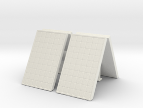 Supported Solar Panel (x4) 1/72 in White Natural Versatile Plastic