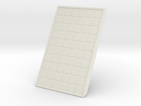 Supported Solar Panel 1/43 in White Natural Versatile Plastic