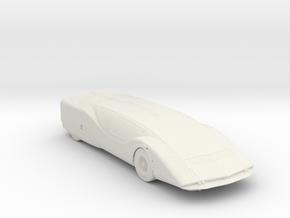 BG Sport Car V1 1:160 Scale in White Natural Versatile Plastic