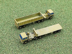 FMTV M1088 Tractor w. M871 Trailer 1/285 in Smooth Fine Detail Plastic