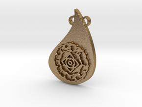 Mandala Pendant in Polished Gold Steel