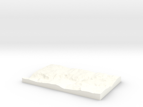 Yosemite Valley in White Processed Versatile Plastic