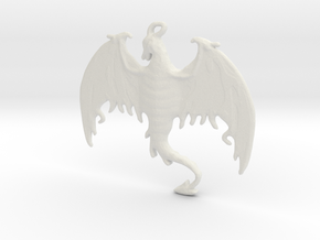 Dragon-Pendant in White Natural Versatile Plastic