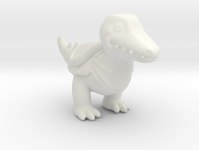 Castle Crashers Crocodile miniature fantasy games in White Natural Versatile Plastic