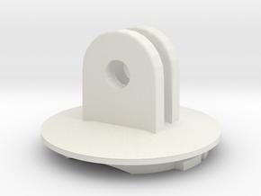 Garmin Male to GoPro Male in White Natural Versatile Plastic