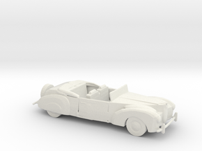 HO Scale 1940 Lincoln Continental in White Natural Versatile Plastic
