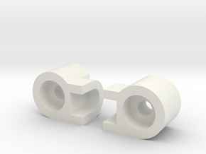 Kyosho b block big 4, #4 and #5 big brute in White Natural Versatile Plastic