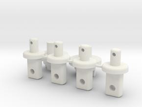 Tamiya Celica GRB i parts body mounts in White Natural Versatile Plastic