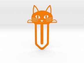 Cute Cat Bookmark in Orange Processed Versatile Plastic