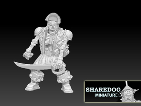 Character Series Undead Brigand Captain in White Natural Versatile Plastic