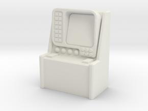 Monitor Control Console 1/72 in White Natural Versatile Plastic