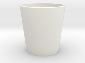 Small Cup in White Natural Versatile Plastic