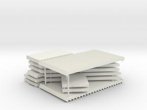 USTRAB Abgang unterirdischer Teil, 2 Stöcke in White Natural Versatile Plastic