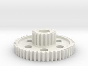 Tamiya Brat Cluster Gear 50 / 19 teeth in White Natural Versatile Plastic