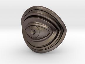 Eye Mini in Polished Bronzed Silver Steel