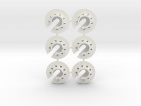damperspring retainer 2x3 in White Natural Versatile Plastic