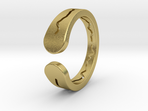 DO WHAT YOU LOVE RING in Natural Brass: Extra Small