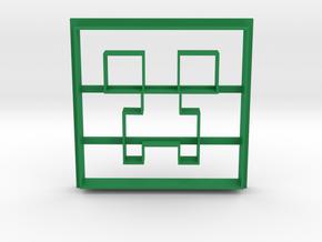 Minecraft Creeper Cookie Cutter in Green Processed Versatile Plastic