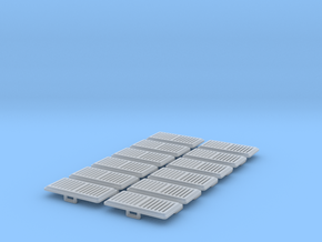 1:12 Vent 25x12.5mm 12pc in Smooth Fine Detail Plastic