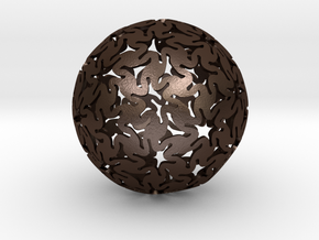 TriHex Sphere in Matte Bronze Steel
