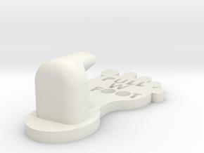 Open A Door With No Hands! Footie v6 Large in White Natural Versatile Plastic