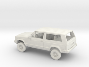 1/72 1984-96 4Wheel Drive SUV 2 Door Kit in White Natural Versatile Plastic