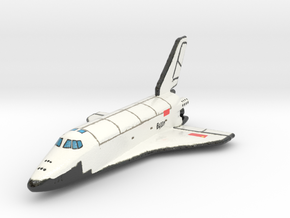 Buran (Full Color Model) space craft 1:400 scale  in Glossy Full Color Sandstone