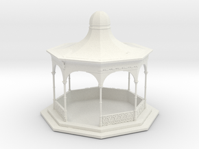 HO Scale Bandstand in White Natural Versatile Plastic