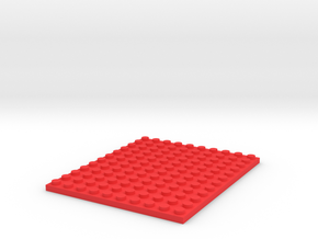 Toy Brick 10x12 Plate in Red Processed Versatile Plastic