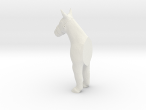 HO Scale Donkey Pin in White Natural Versatile Plastic
