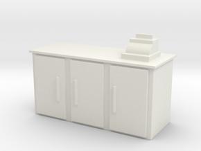 Shop Cash Counter 1/35 in White Natural Versatile Plastic