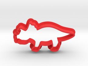 Triceraptor Dino Cookie Cutter in Red Processed Versatile Plastic