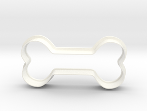 Bone Cookie Cutter in White Processed Versatile Plastic