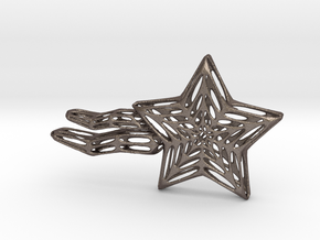 Shooting Star Voronoi in Polished Bronzed Silver Steel