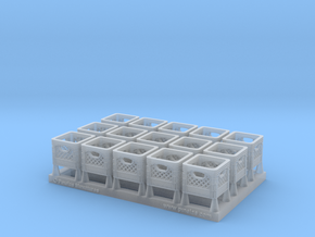 Plastic Crate 01. 1:43 Scale in Smooth Fine Detail Plastic