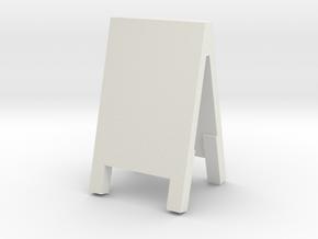 Advertising Board 1/12 in White Natural Versatile Plastic