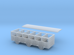 Broad Gauge 2nd Class 6-Wheel Coach (N Scale) in Smooth Fine Detail Plastic