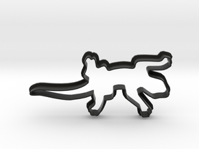 Lizard Cookie Cutter in Black Natural Versatile Plastic
