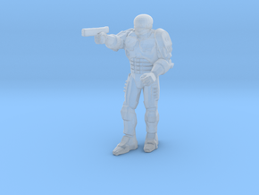 Robocop 1/60 miniature for scifi boardgame and rpg in Smooth Fine Detail Plastic