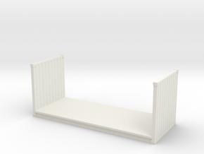 20ft Flatrack Container 1/48 in White Natural Versatile Plastic