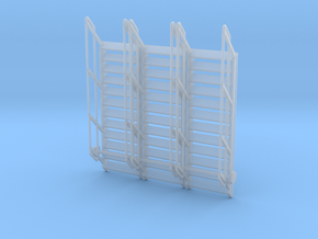 1:64 3x Stairs 12 in Smooth Fine Detail Plastic