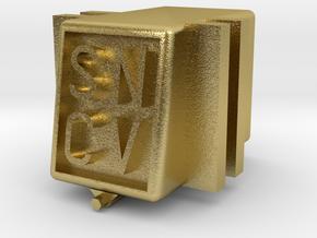 SNCV boite essieux - NMVB assendoos NMVB in Natural Brass