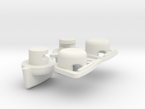 LOSI JRX2 XX A-8102 & A-+8103 WING BUTTONS in White Natural Versatile Plastic
