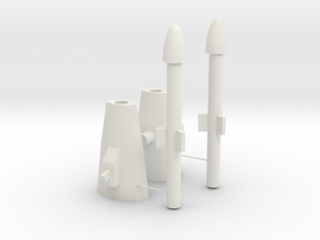 G2 Transformers Seeker Missile Launchers in White Natural Versatile Plastic