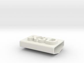 stamp x3D in White Natural Versatile Plastic