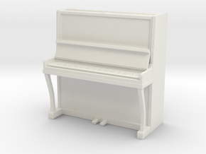 Piano 01. 1:48 Scale (O) in White Natural Versatile Plastic
