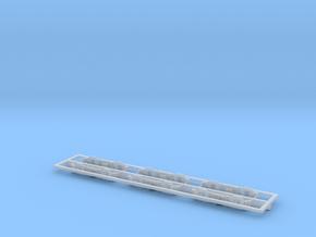Scala N - FS E636 - E646 001-005 Fiancate carrelli in Smoothest Fine Detail Plastic