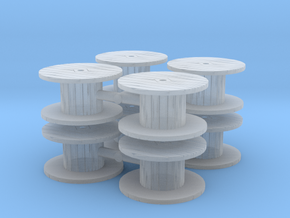 Cable Spool (x8) 1/220 in Smooth Fine Detail Plastic