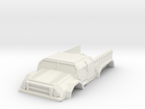 Model sci-fi action truck 1/64ish scale in White Natural Versatile Plastic