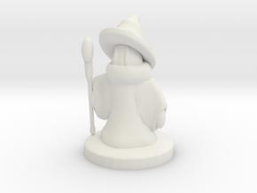 Mage / Black Mage Final Fantasy II. Miniature 25mm in White Natural Versatile Plastic